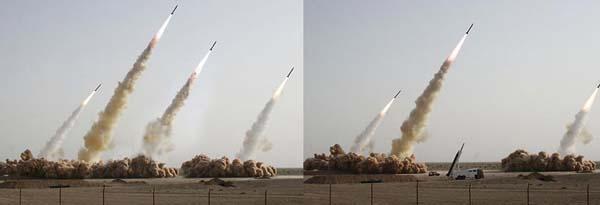 Η φωτογραφία της δοκιμής πυραύλων του Ιράν του 2008 δεν είχε αρκετό ενδιαφέρον για τους δημοσιογράφους, έτσι είπαν να προσθέσουν μερικούς πυραύλους ακόμη