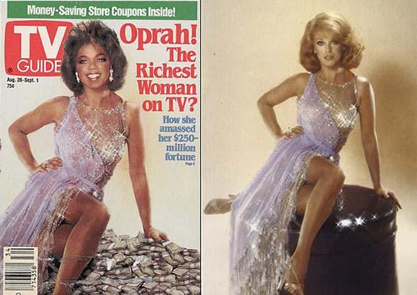 Όχι, αυτό ΔΕΝ ήταν το σώμα της Oprah αλλά της Ann-Margaret και ο άνθρωπος που πρώτος παρατήρησε ήταν ο σχεδιαστής του φορέματος.