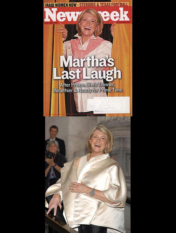 Αυτή η φωτογραφία της Martha Stewart (διάσημη μαγείρισα που έγινε επιχ/τιας) ήταν στην πραγματικότητα από  μια τελετή απονομής