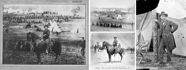 Η γνωστή εικόνα του στρατηγού Γκραντ προφανώς κατά τη διάρκεια του αμερικάνικου εμφύλιου  είναι στην πραγματικότητα συρραφή 3 εικόνων